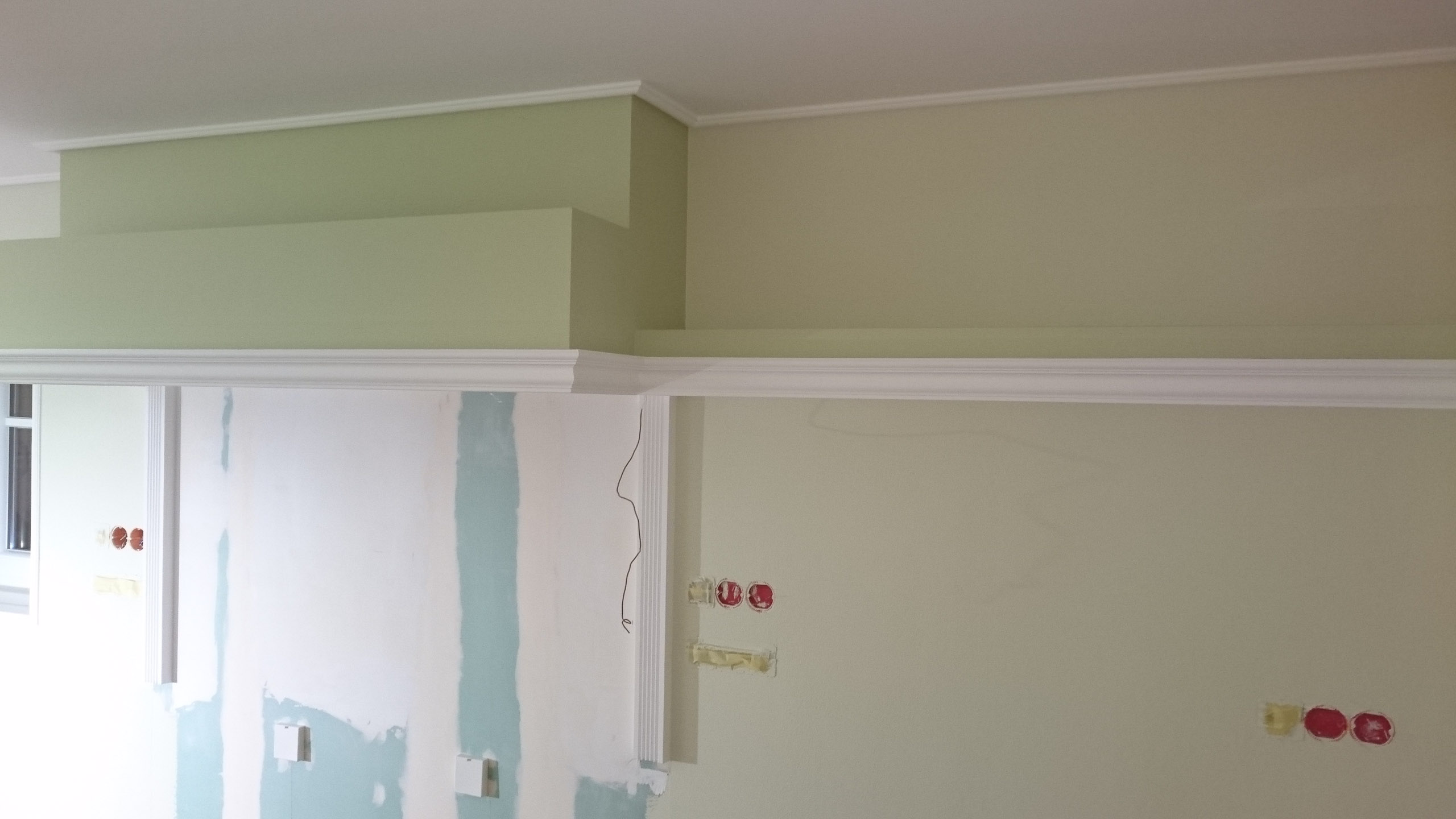 Planking The Drywall Construction And Painting Ikea Kitchen
