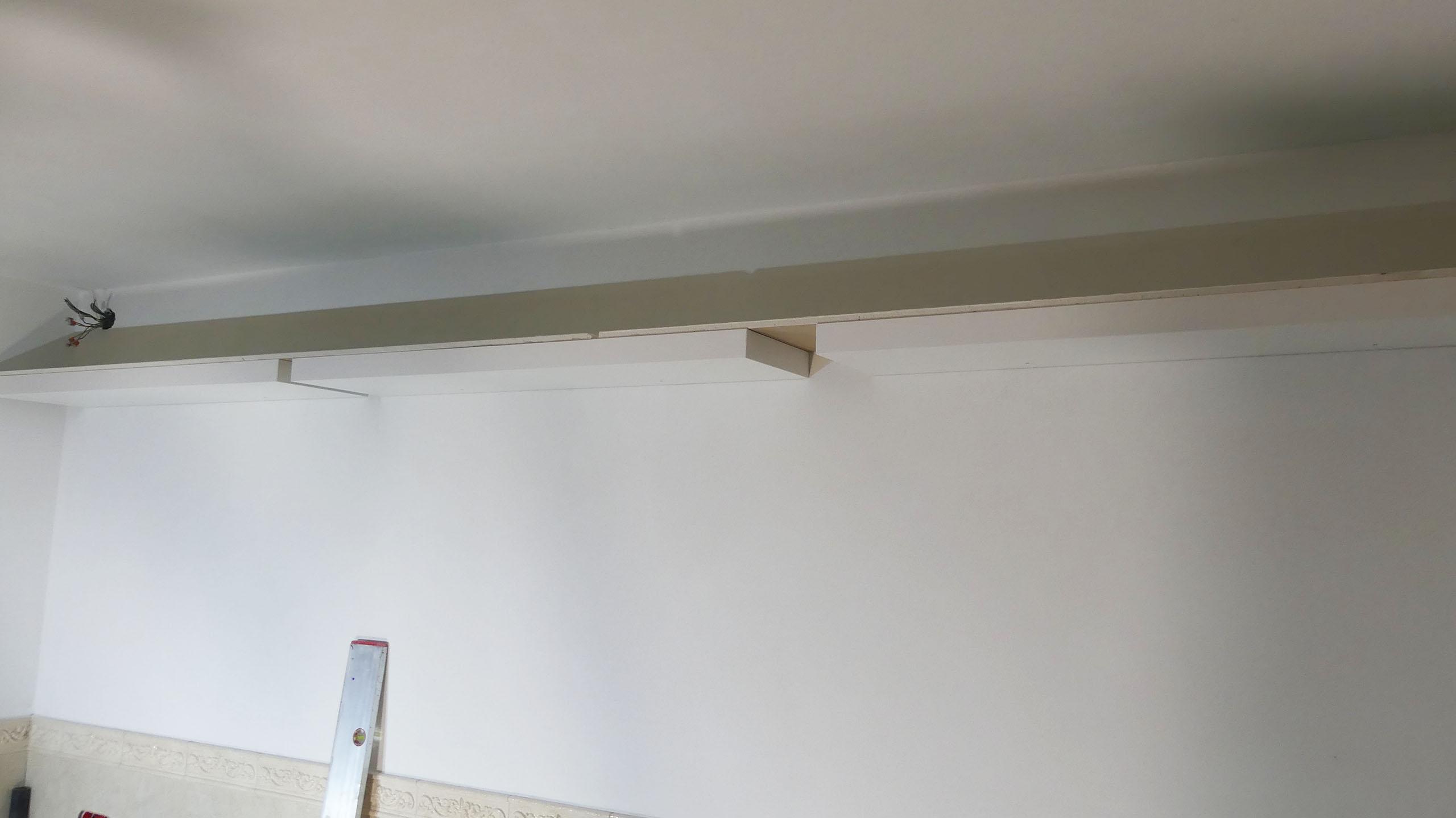 Build a new wall shelf or lightboard from IKEA Lack wall